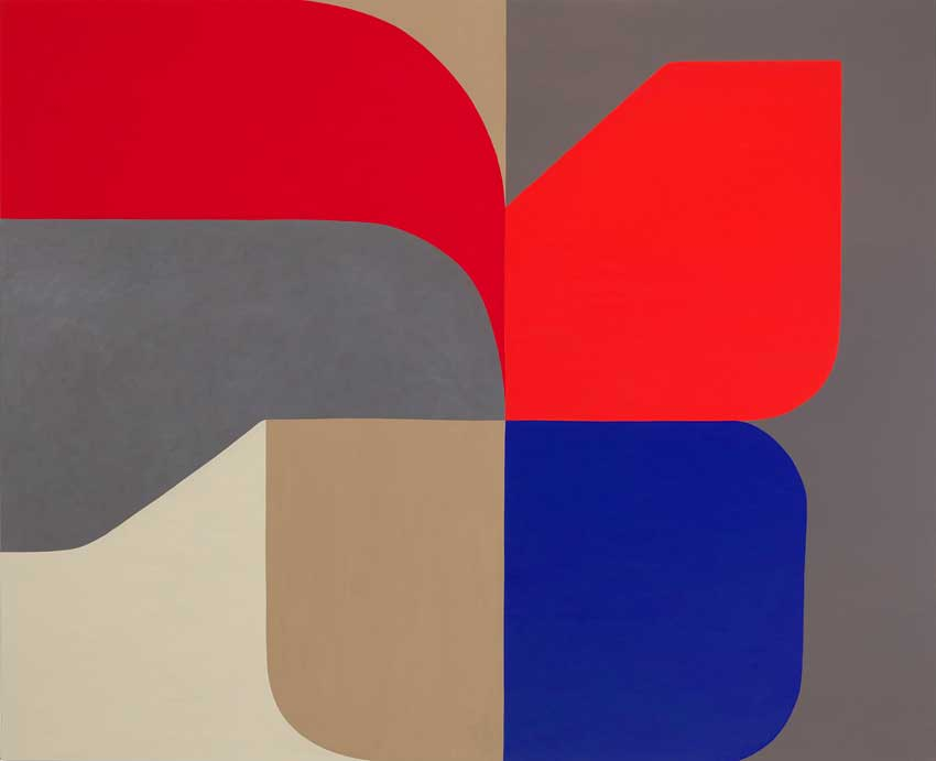 Two Reds One Blue by Stephen Ormandy