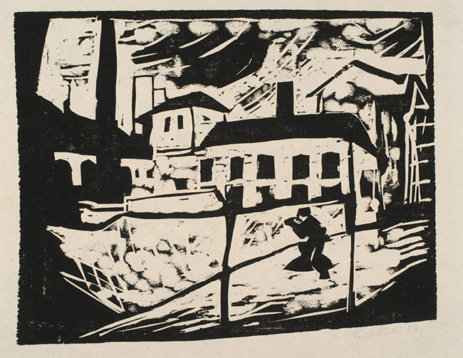Fabrik (The Factory) by Erich Heckel