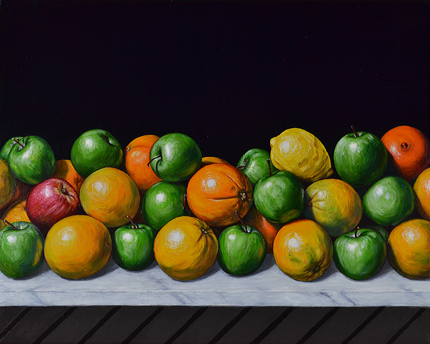 Still Life with Apples and Oranges by Chris Beaumont