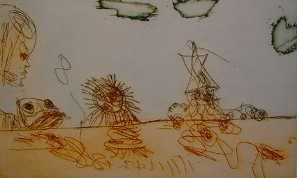 Girl and Sea Objects by John Olsen